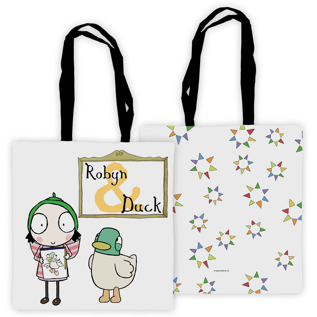 Personalised Sarah & Duck Are Celebrating Tote Bag