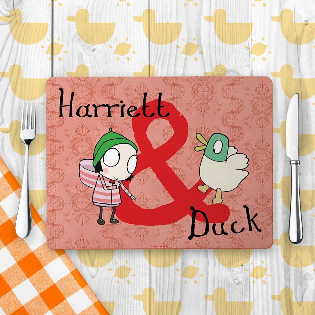 Personalised Sarah & Duck Placemat