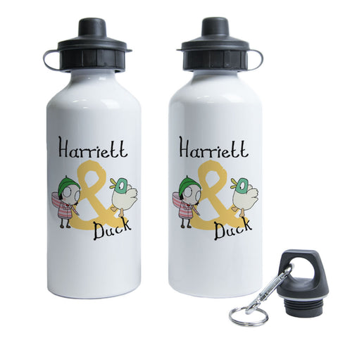 Personalised Sarah & Duck Water Bottle - Yellow