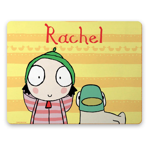 Personalised Yellow Sarah & Duck Placemat