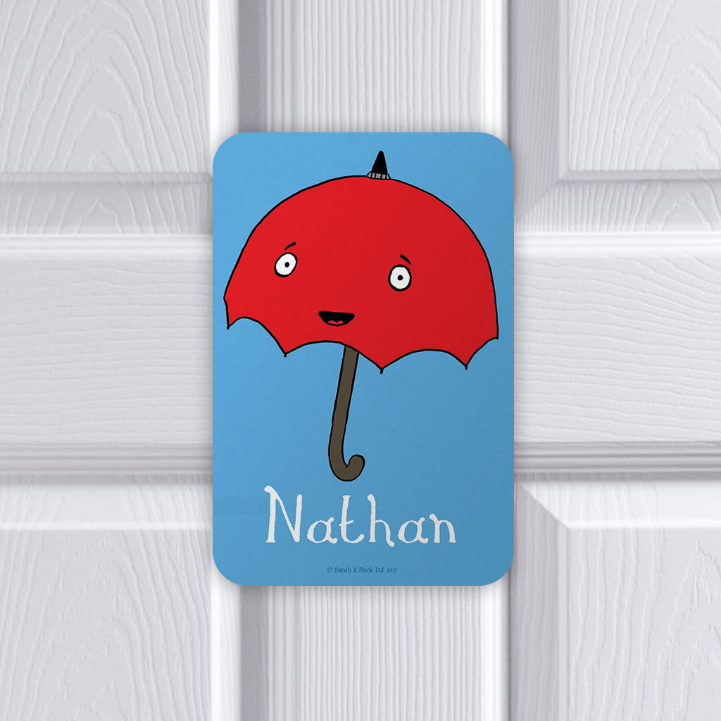 Personalised Umbrella Door Plaque