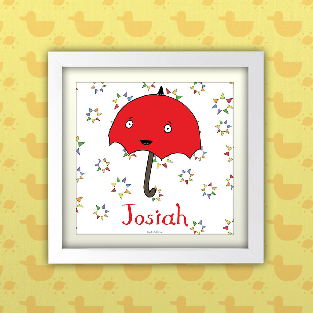 Personalised Umbrella Art Print