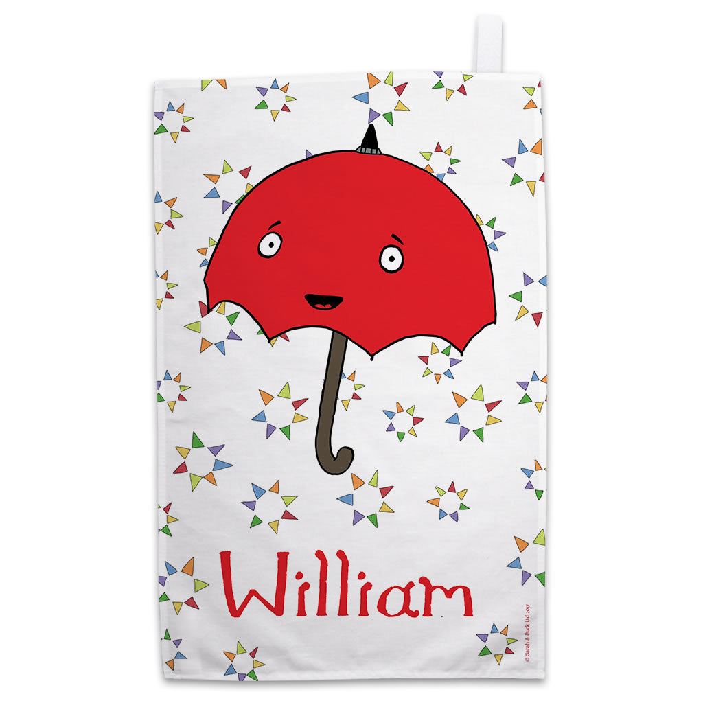 Personalised Umbrella Tea Towel