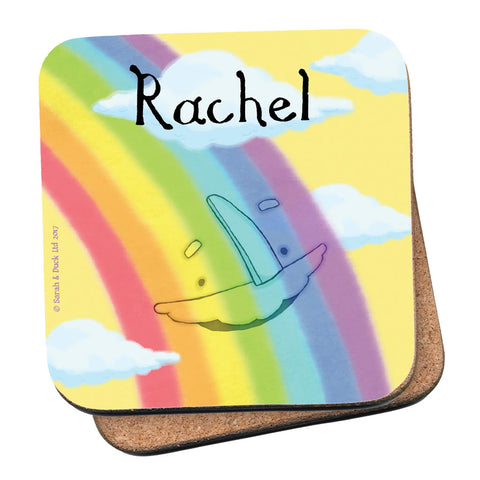 Personalised Rainbow Coaster