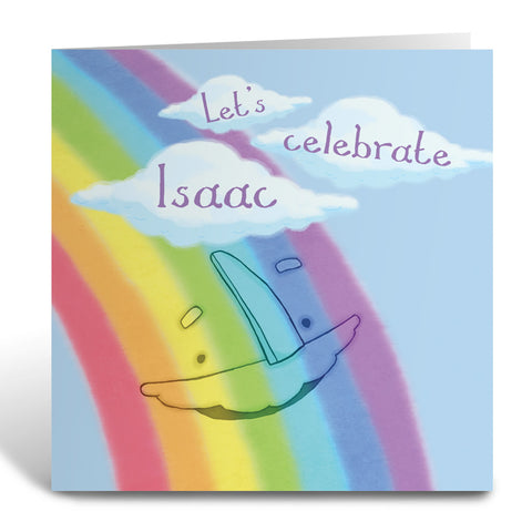 Personalised Rainbow Greeting Card