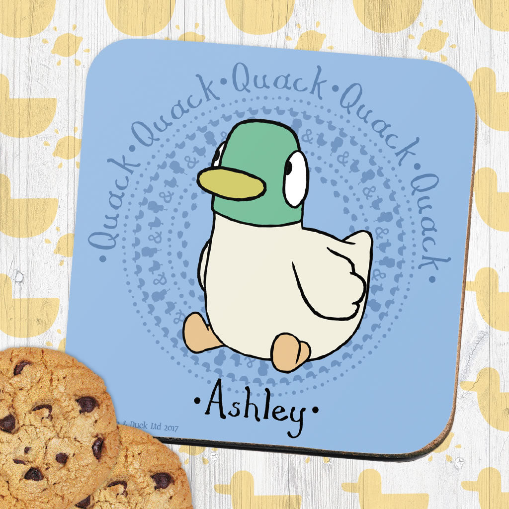 Personalised Blue Duck Coaster