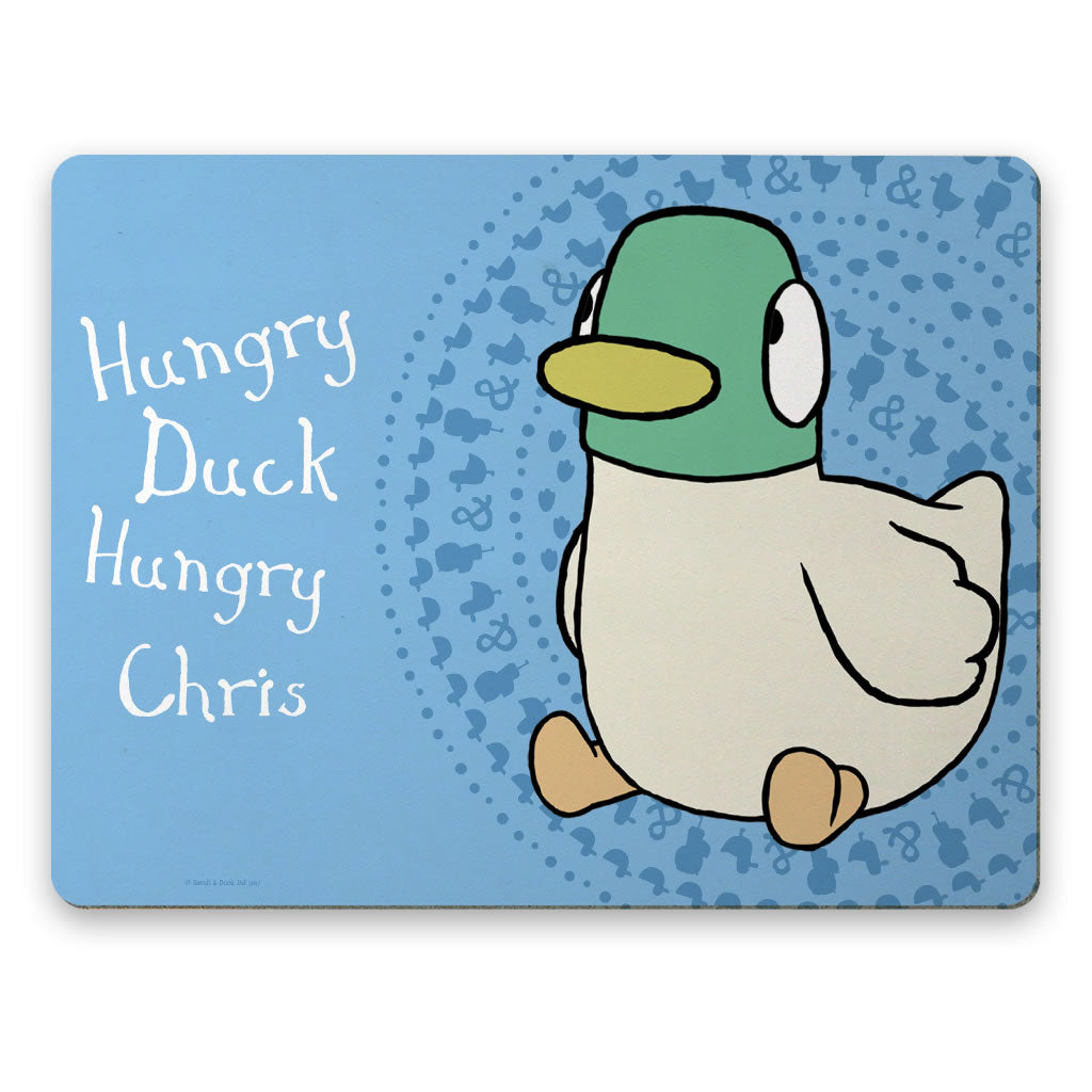 Personalised Blue Duck Placemat