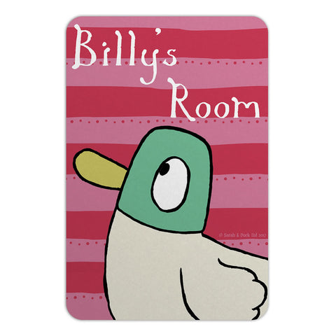 Personalised Duck Door Plaque