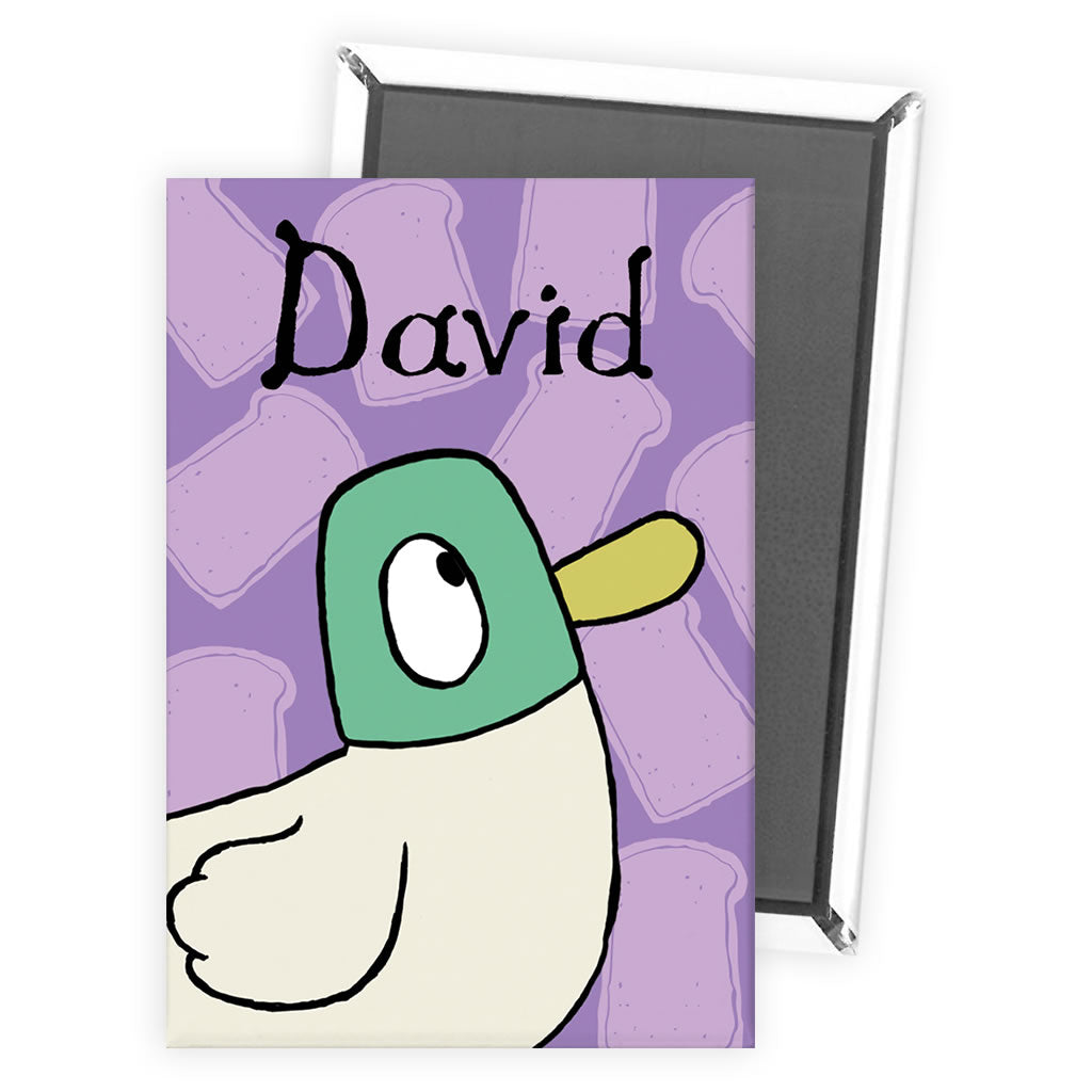 Personalised Duck Magnet - Purple