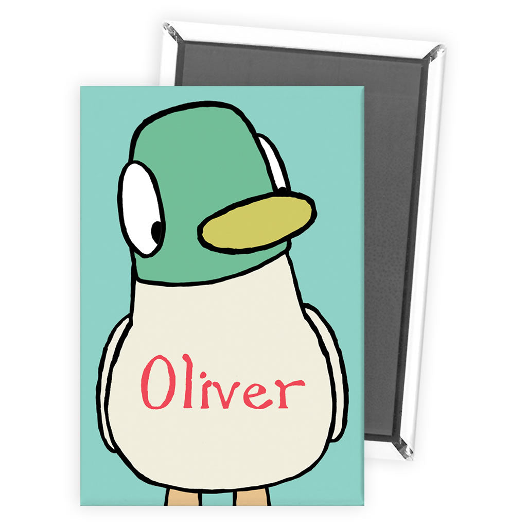 Personalised Duck Magnet - Green