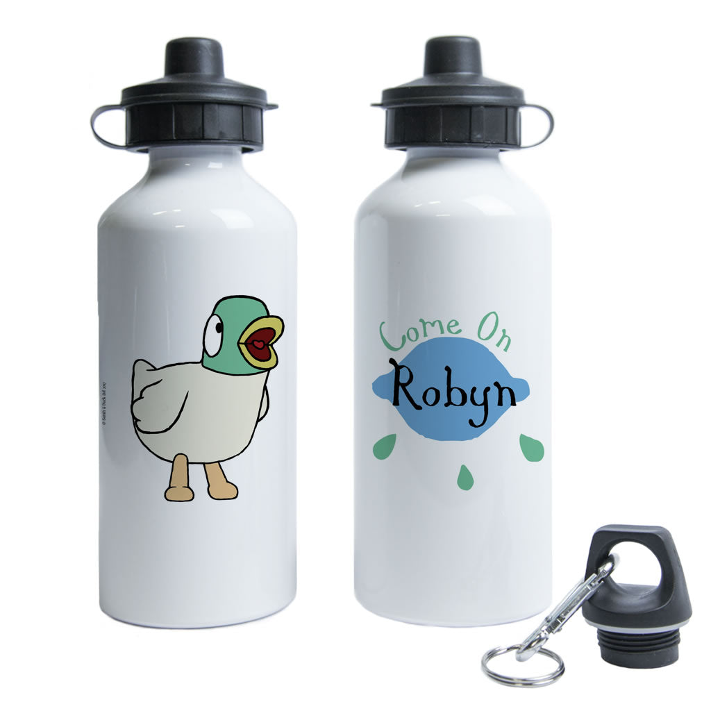 Personalised Come On Duck Water Bottle
