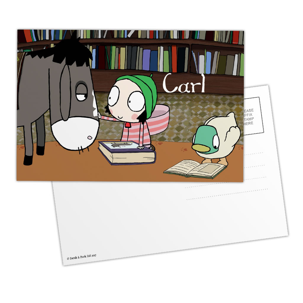 Personalised Sarah & Duck Postcard - Donkey
