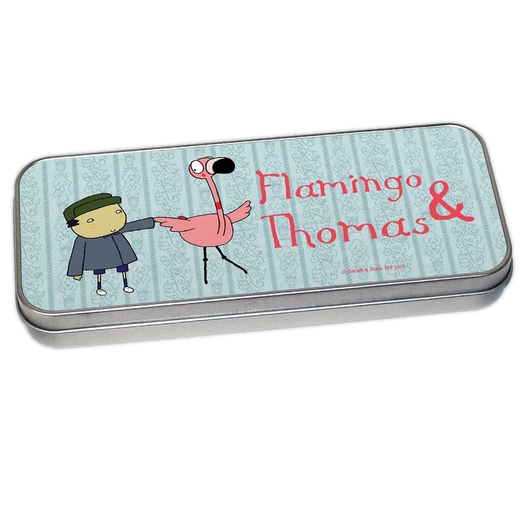 Personalised John & Flamingo Pencil Tin