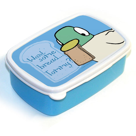 Personalised Blue Duck Lunch Box