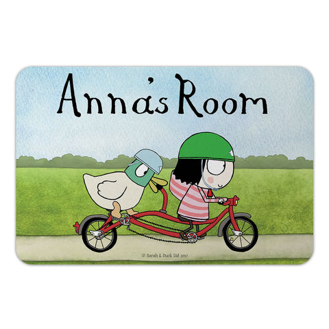Personalised Bike Door Plaque