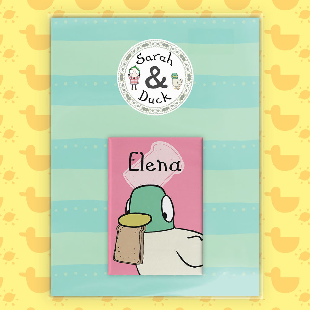 Personalised Duck Magnet - Pink