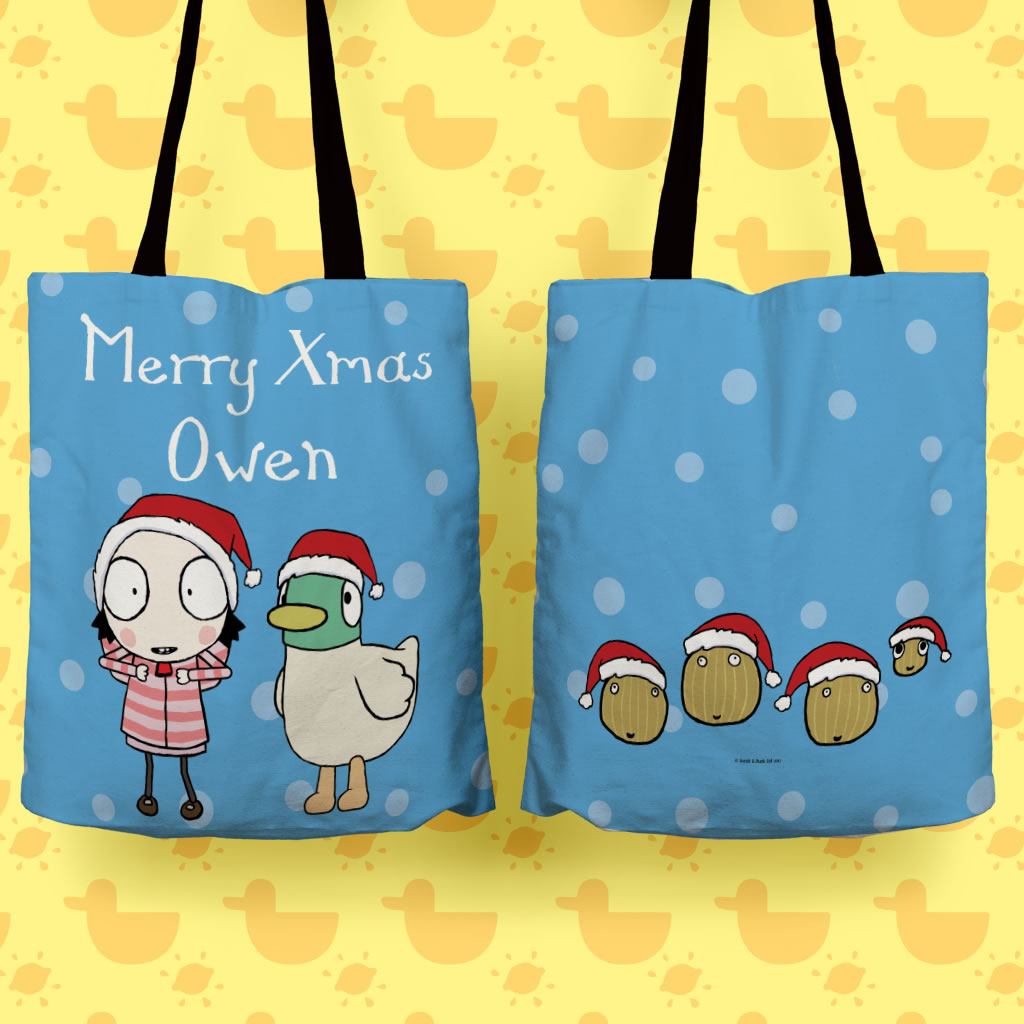 Personalised Merry Christmas Tote Bag