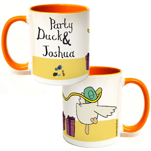 Personalised Party Duck Colour Insert Mug