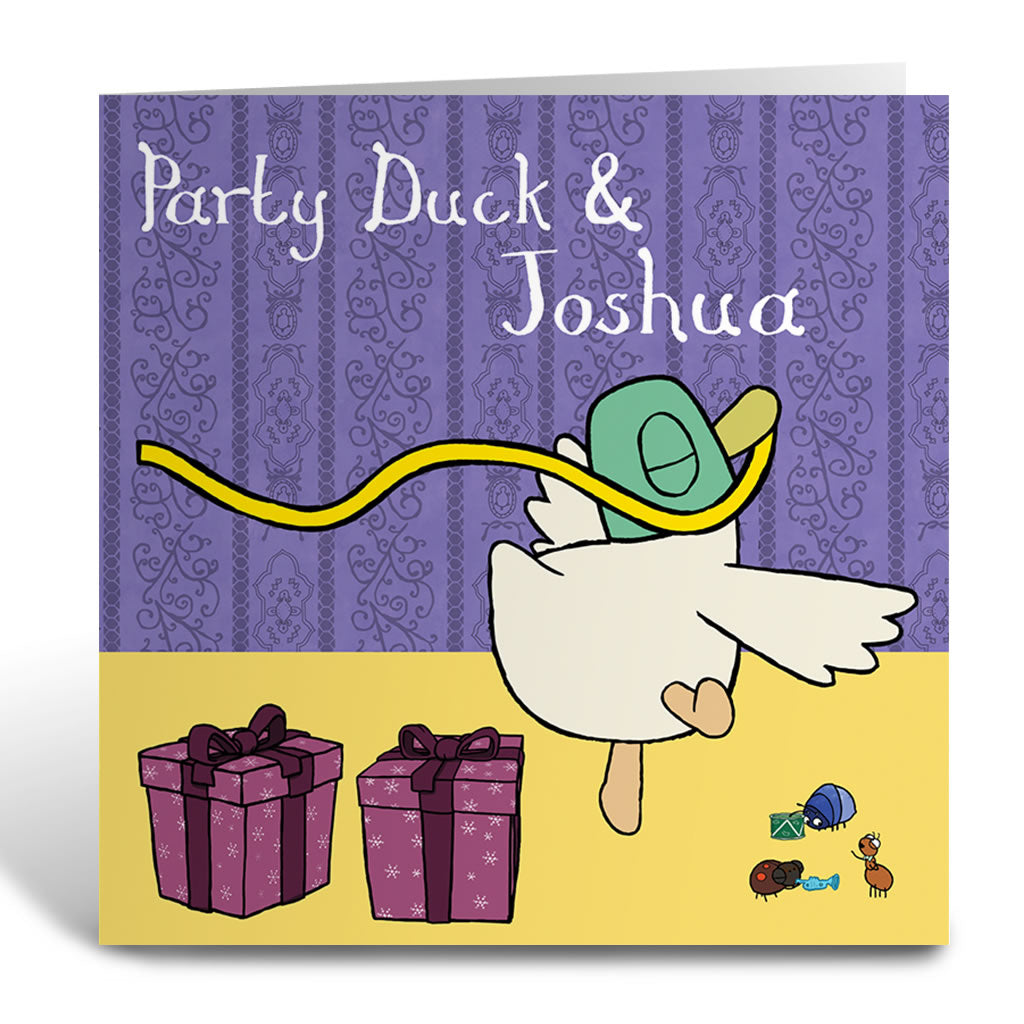 Personalised Party Duck Greeting Card