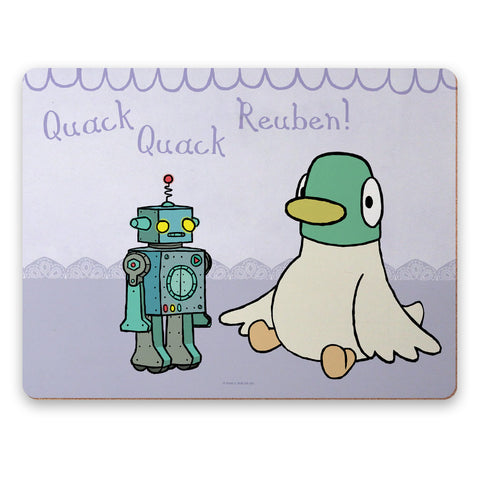 Personalised Duck & Robot Placemat