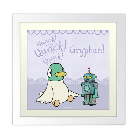 Personalised Duck & Robot Art Print
