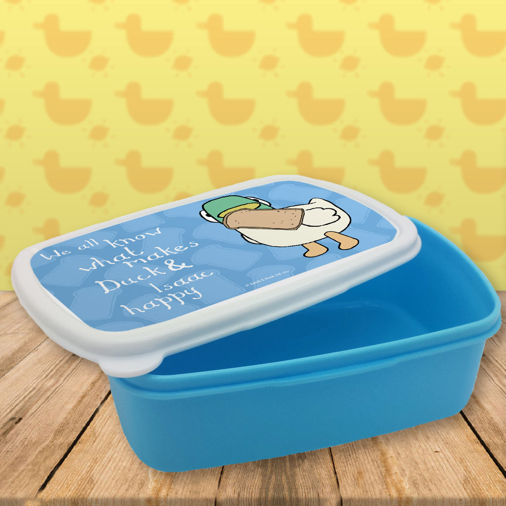 Personalised We all know what makes Duck happy Lunch Box