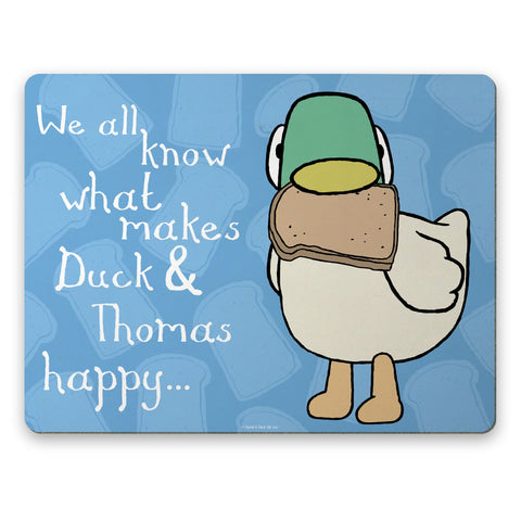 Personalised We all know what makes Duck happy Placemat