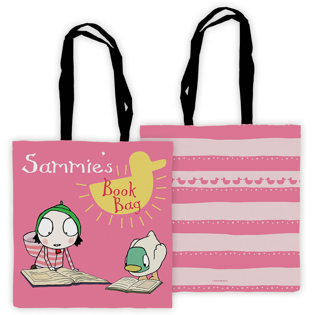 Personalised Sarah & Duck Reading Tote Bag