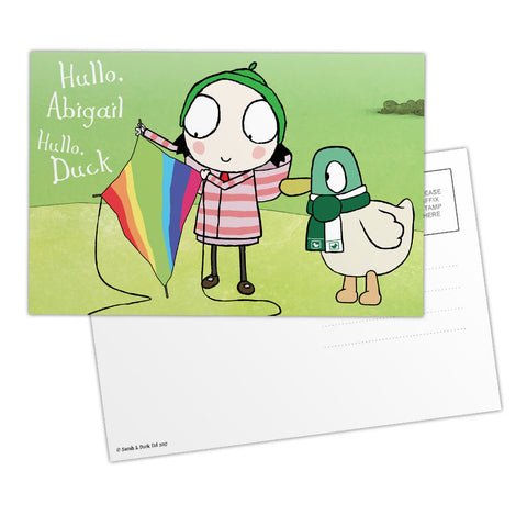 Personalised Sarah & Duck Postcard - Kite