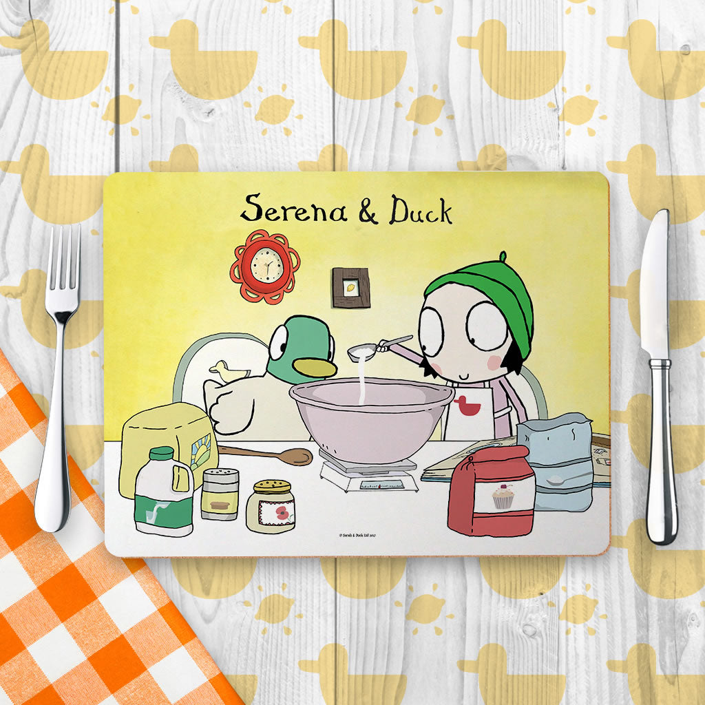 Personalised Sarah & Duck Baking Placemat