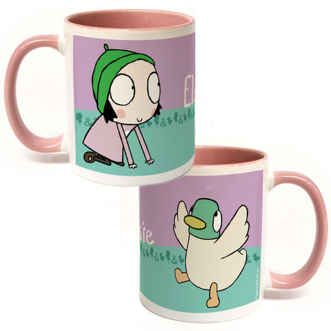 Personalised Sarah & Duck  Colour Insert Mug