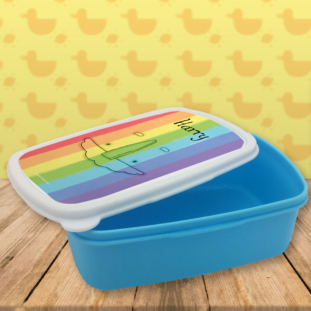 Personalised Rainbow Lunch Box