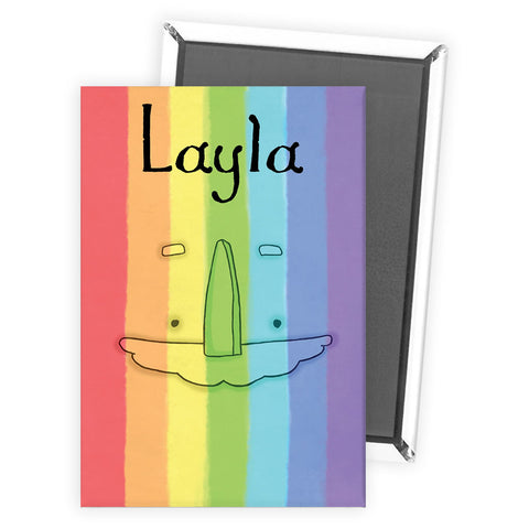 Personalised Rainbow Magnet