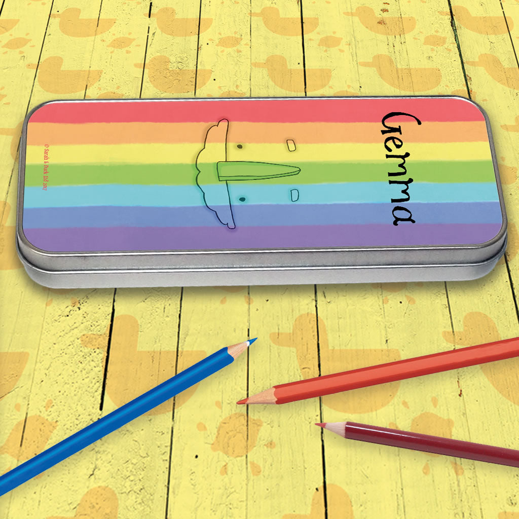 Personalised Rainbow Pencil Tin