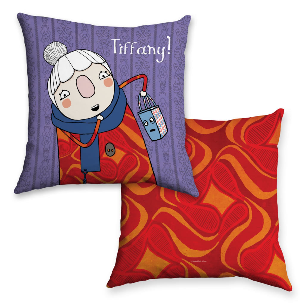 Personalised Scarf Lady Cushion