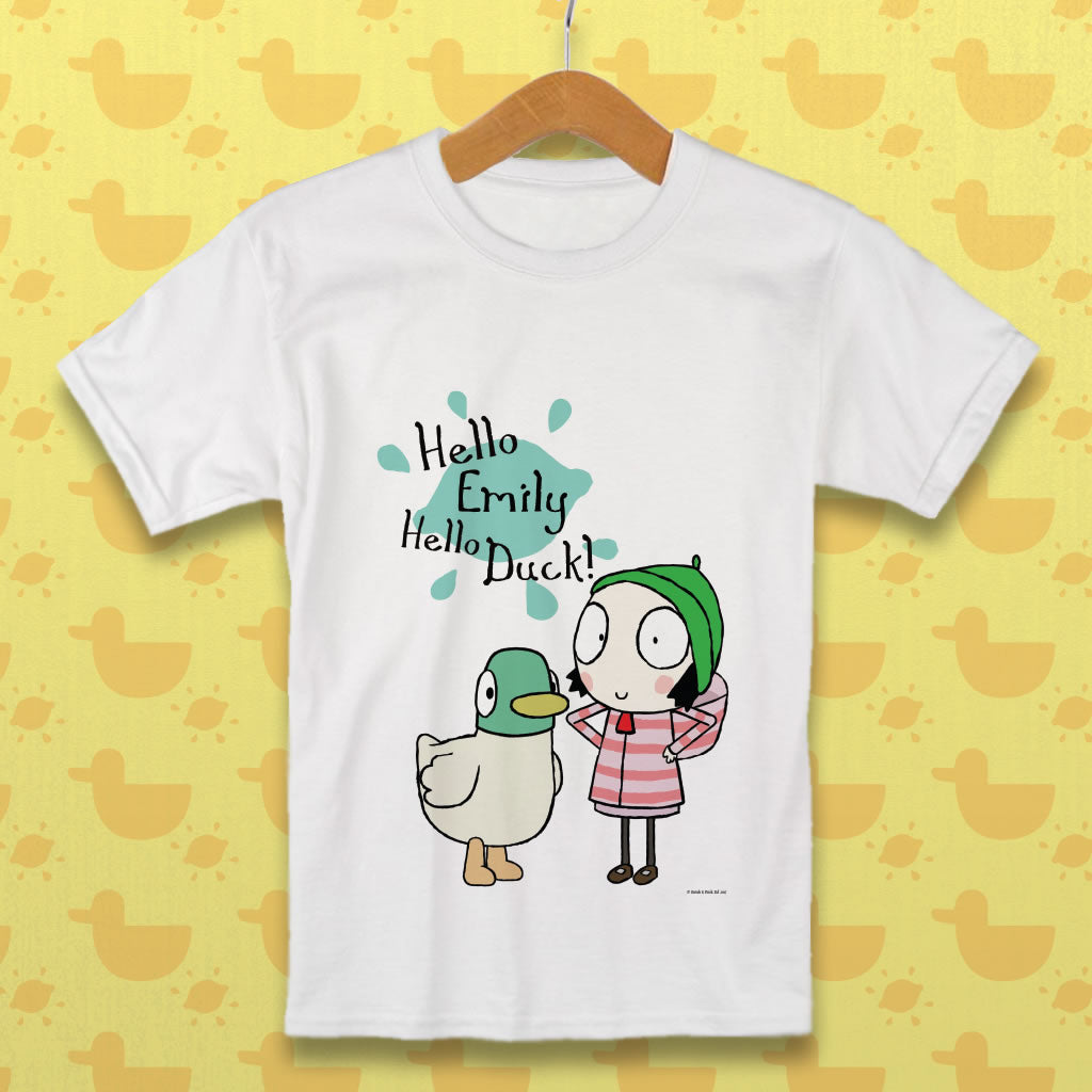 Personalised Hello Sarah, Hello Duck! T-Shirt