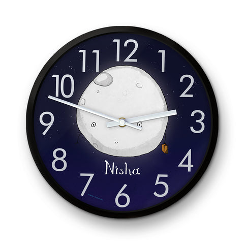 Personalised Hullo Moon Clock