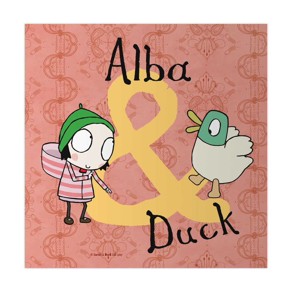 Personalised Purple Sarah & Duck Art Print