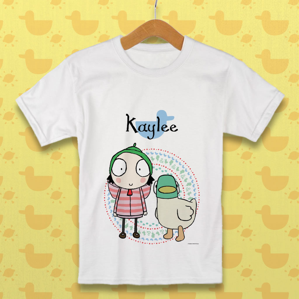 Personalised Sarah & Duck T-Shirt