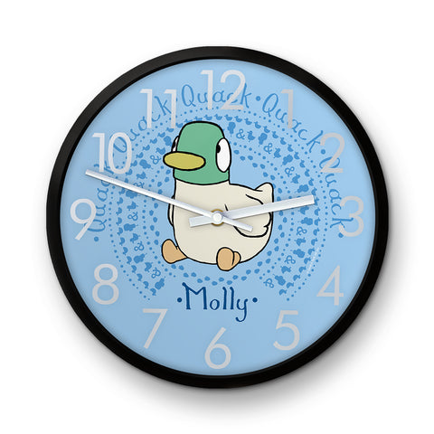 Personalised Blue Duck Clock