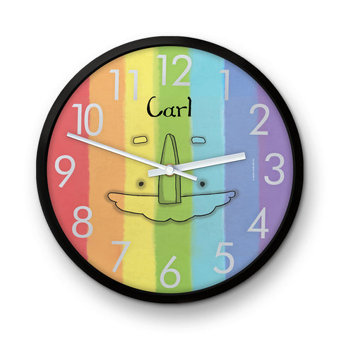 Personalised Rainbow Sarah & Duck Clock