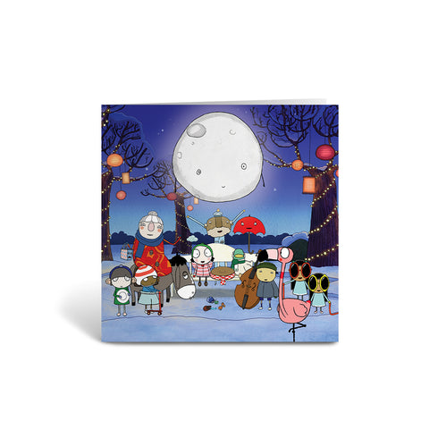 Sarah and Duck Christmas Group Square Greeting Card