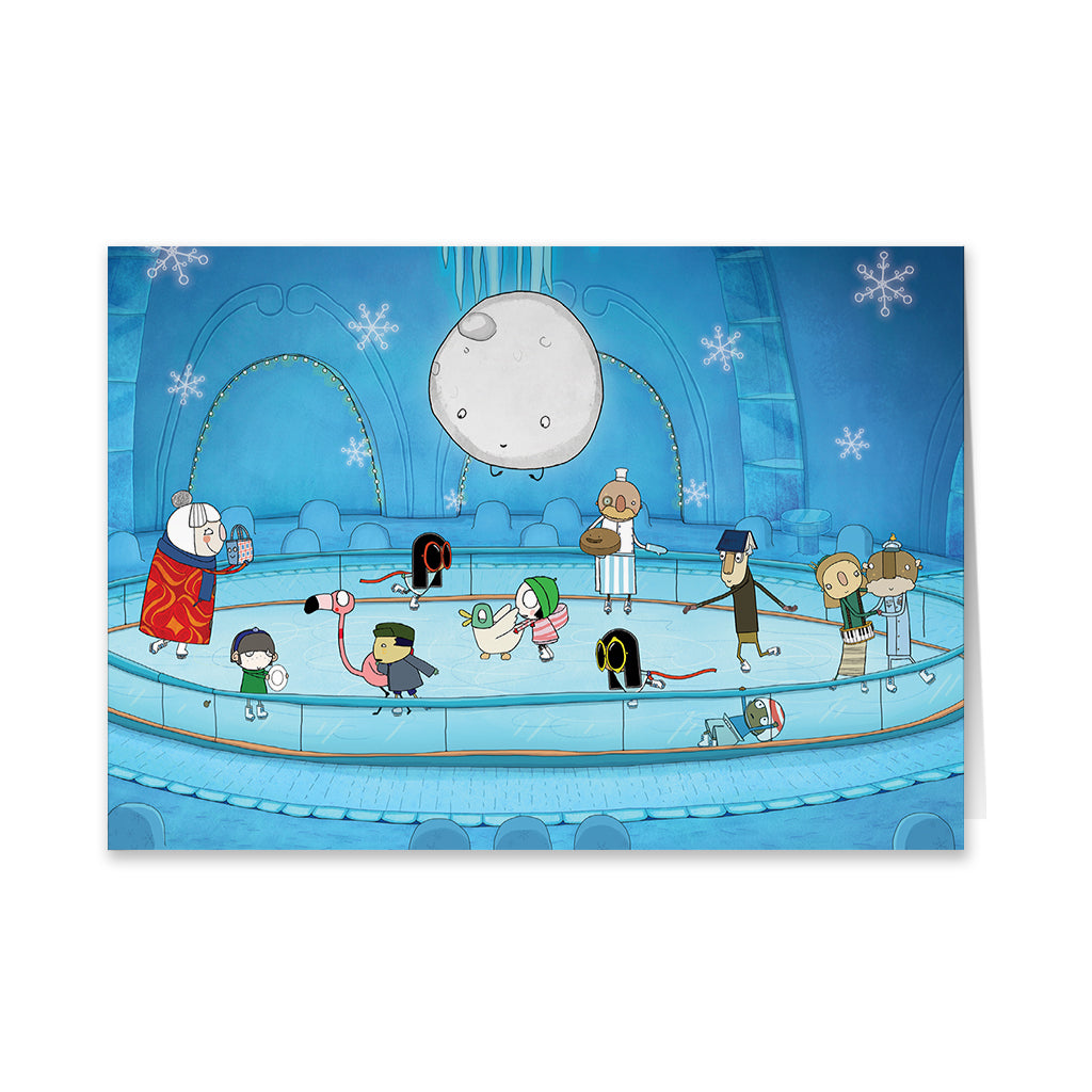 Sarah and Duck Ice Skating Greeting Card