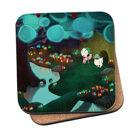 Sarah & Duck Lights Coaster