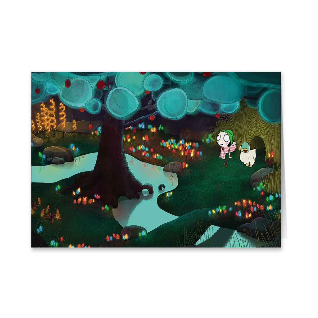 Sarah and Duck Lights Greeting Card