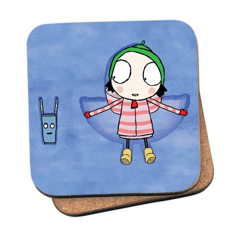 Sarah & Duck Snow Angels Coaster