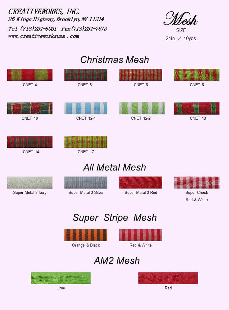 Christmas & All metal & Super stripe & AM2 mesh