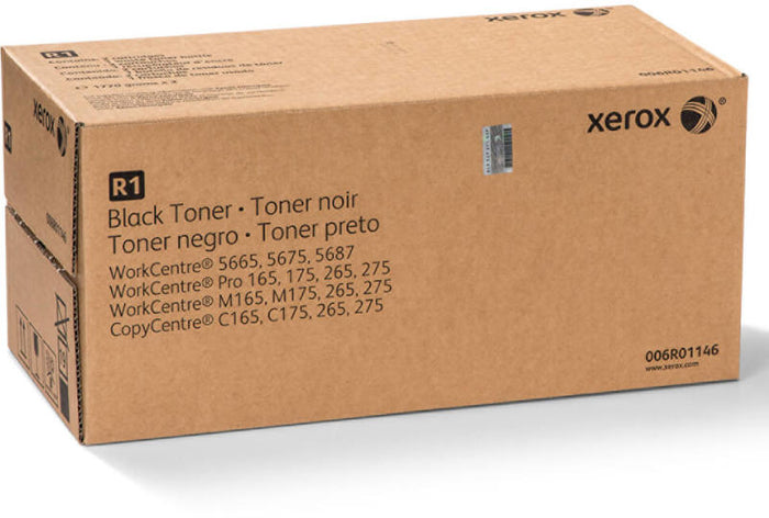 Xerox 006R01146 (R1) Standard Yield Black Toner Cartridge - 2 Per Box