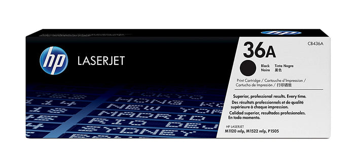 HP CB436A (36A) Standard Yield Black Toner Cartridge