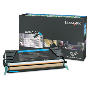Lexmark C748H1CG Cyan Toner Cartridge - Return Program